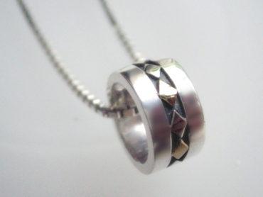 K18とSVのダイヤモチーフのベビーリング
