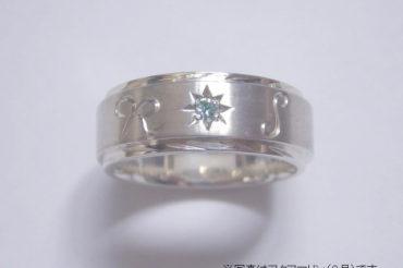 星のイニシャルリング(マット)・細