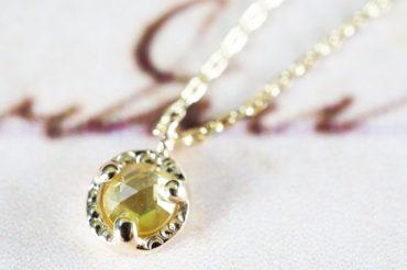 ローズカットネックレス・イエローダイヤモンド