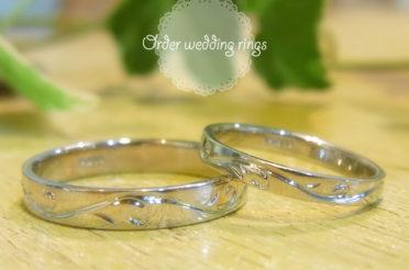 オーダーのマリッジリング(結婚指輪)をおつくりしました