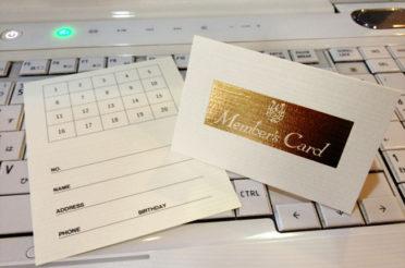 【実店舗】ポイントカードはじめます!
