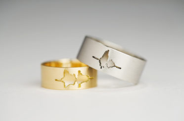 Waveform Wedding Rings