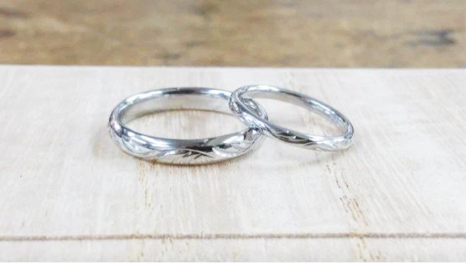 完成した結婚指輪